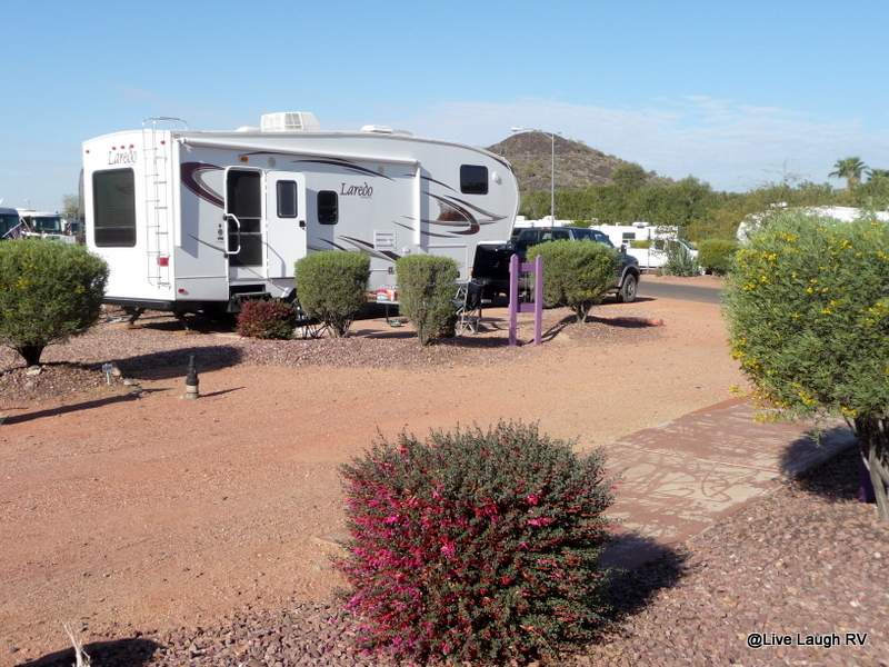 We Have A Nice Pull Thru Site At Deserts Edge RV Park