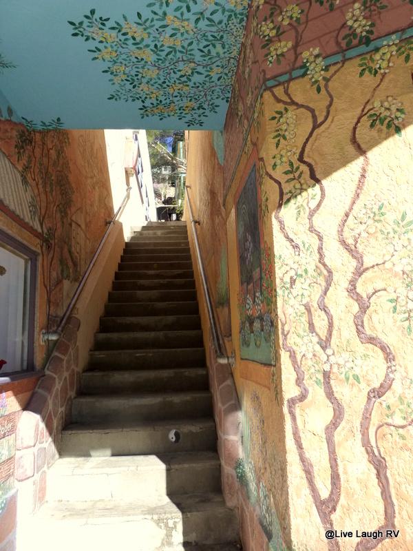 Bisbee stairs Santiago