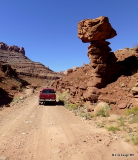 four wheeling the back country near Moab Utah