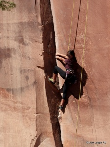 rock climbing repelling