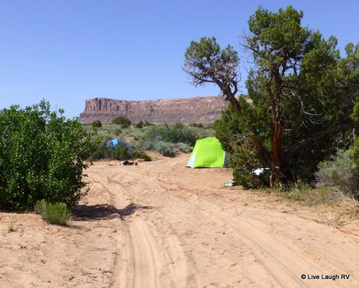 camping in Moab