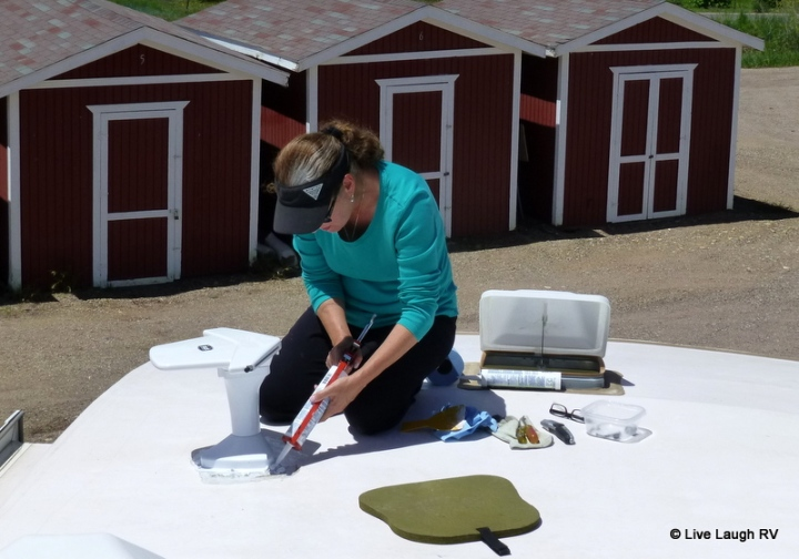 caulking RV roof