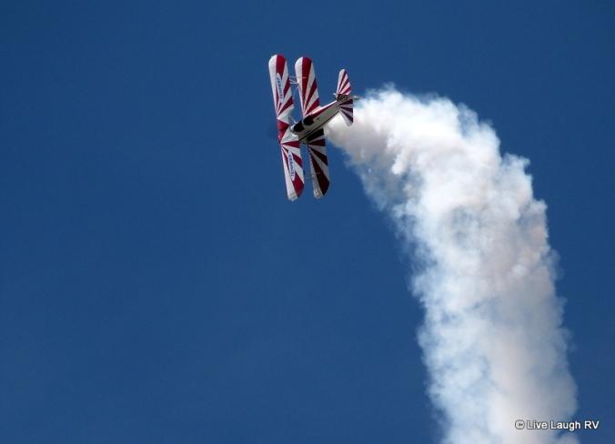 Biplane air show Colorado