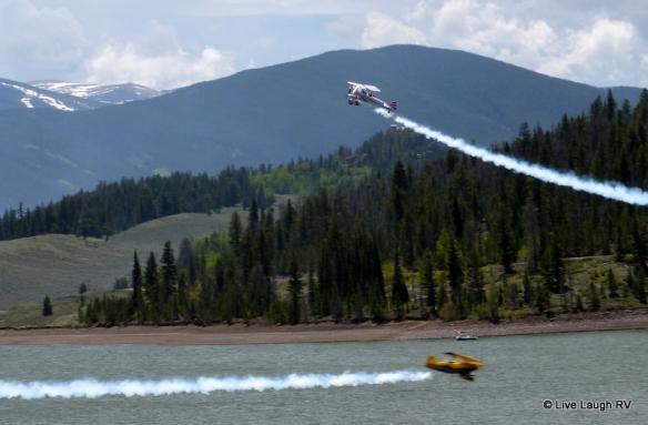 Lake Dillon Marina air show