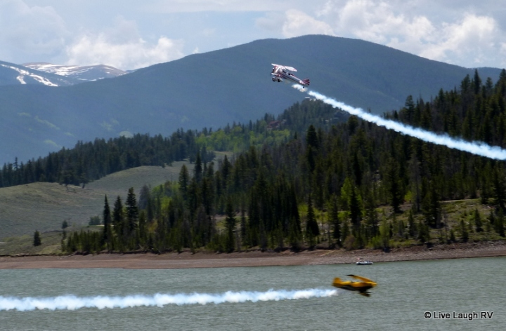 Lake Dillon Marina air show