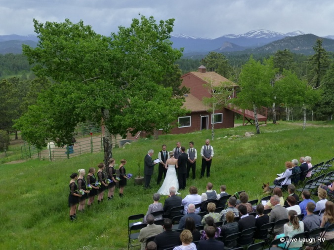 Colorado outdoor wedding