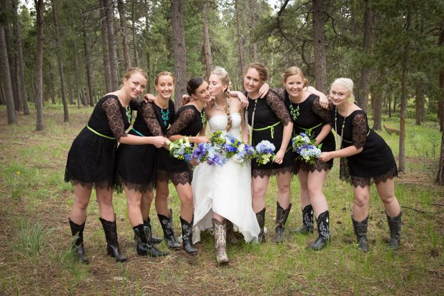 Colorado mountain themed wedding