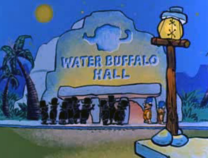 Fred Flinstone Water Buffalo