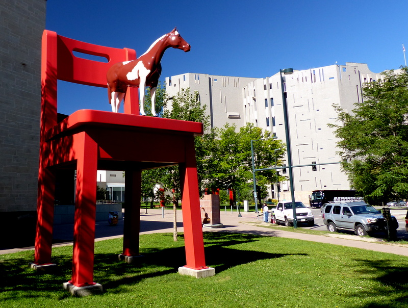 Big Red Chair - Denver Public LIbrary
