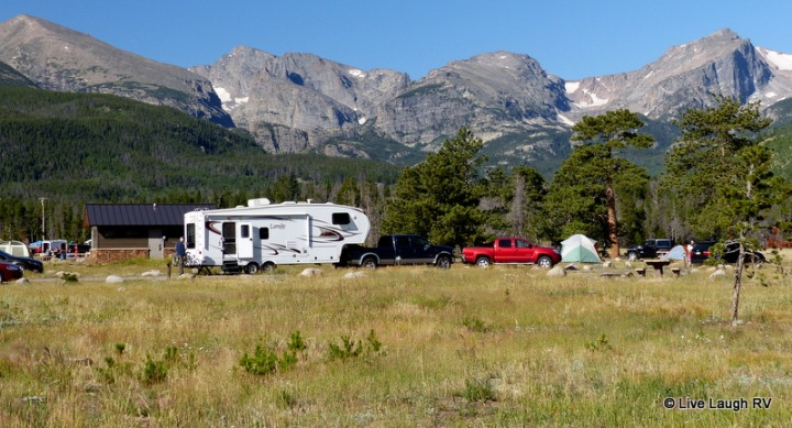 camping in a national park