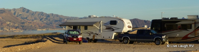 free camping at Lake Mead