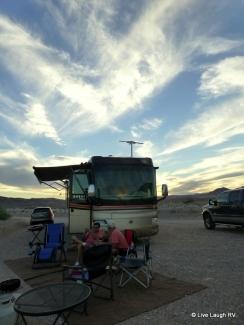 camping at Lake Mead