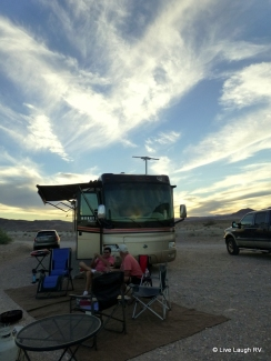 camping at Lake Mead