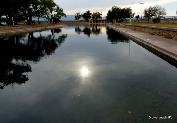 spring-fed swimming pool