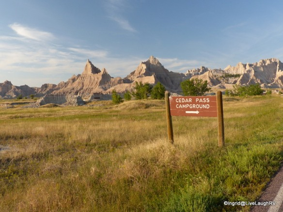 camping in Badlands