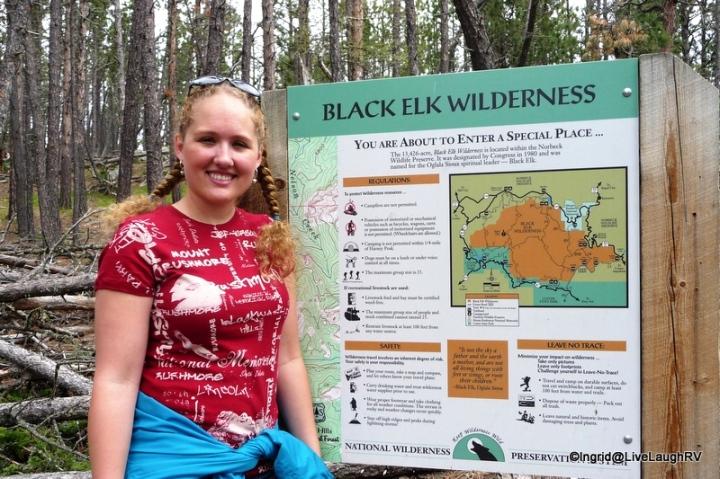 Daughter - Harney Peak hike