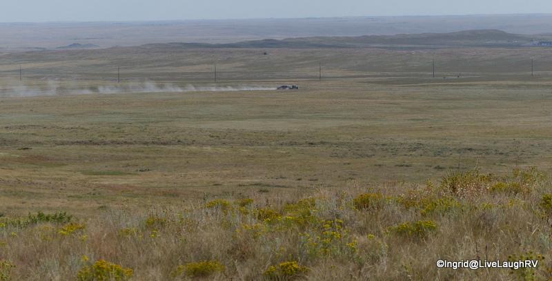 18 wheelers at work - fracking all over Pawnee National Grasslands