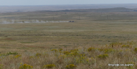 18 wheelers at work - fracking all over Pawnee National Grasslands