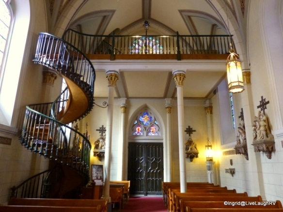 Inside the Loretta Chapel - miraculous staircase
