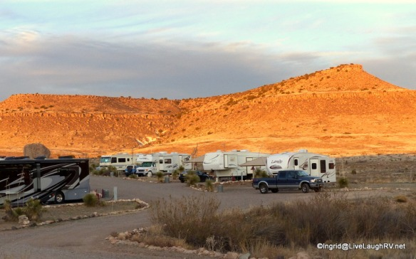 We are in site #1, first RV on the right. It's the shortest electric site.