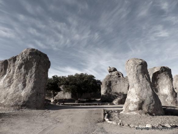 campsites nestled amongst the rocks