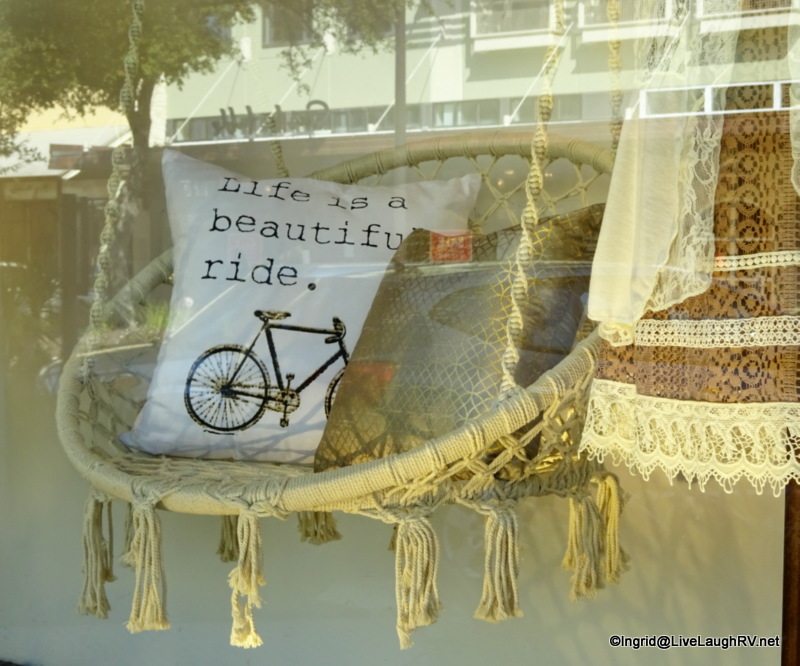 """Life is a beautiful ride"" I enjoyed window shopping at La Canterra"