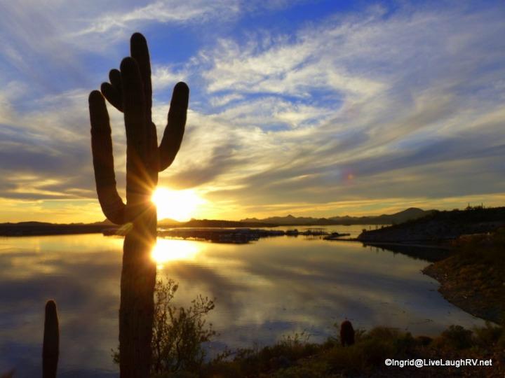 Sunset over Lake Pleasant