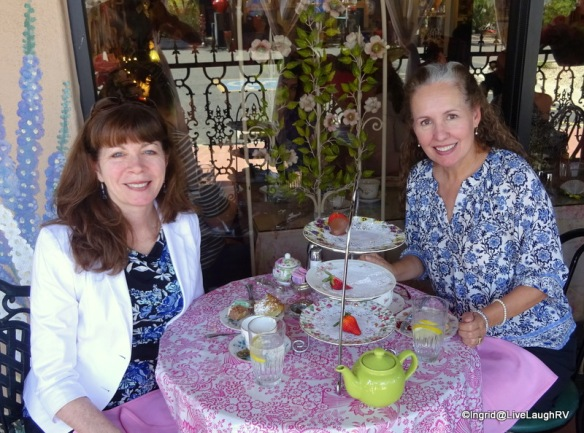Marianne and I enjoy tea and crumpets at the English Rose Tea Room in Carefree, AZ. We haven't changed a bit in twenty-three years ;-)