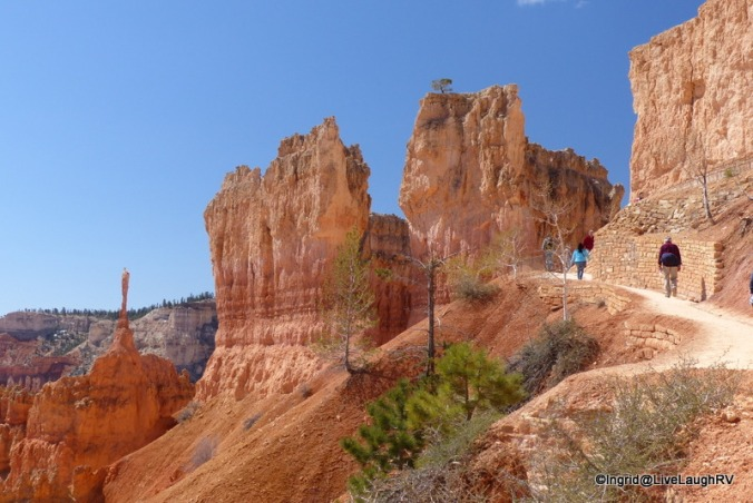 We had to climb out of the valley above the pointy hoodoo