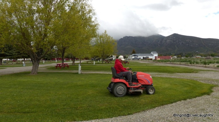 There's always lawn mowing. Al was having fun riding a tractor again. Not sure how long he'll consider it 'fun'.