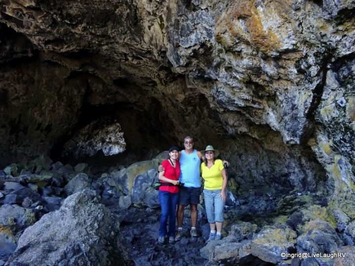 me, Dave, Faye inside Indian tunnel lava cave tube