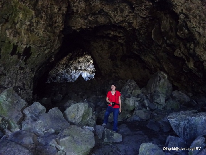 me inside Indian tunnel lava tube