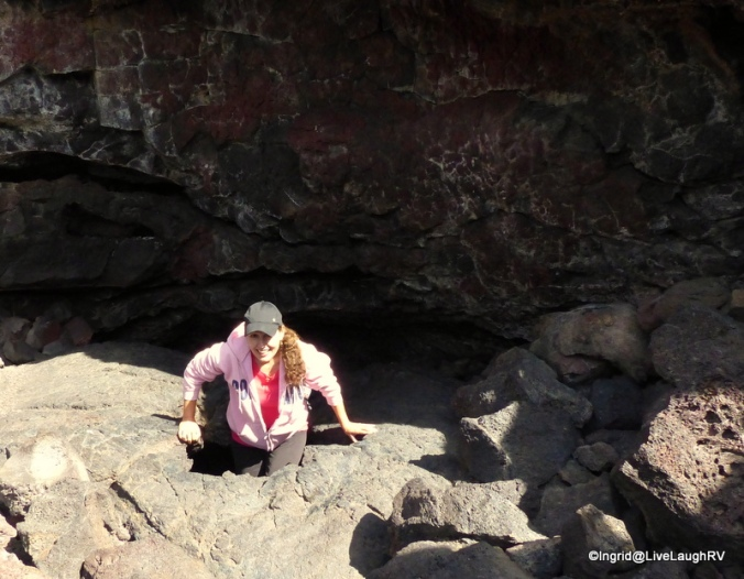 Me exiting Indian tunnel lava tube