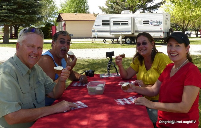 Al, Dave, Faye, and me at our place at in Arco, Idaho