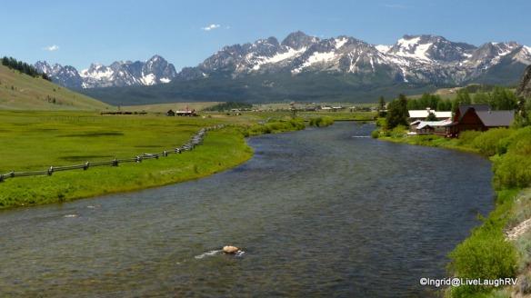 Looking toward the quaint town of Stanley, Idaho
