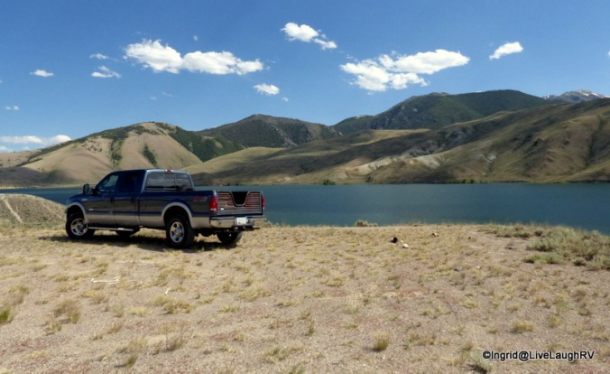 Mackay Reservoir - boondocking along the shores is a consideration