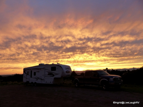 Camping in Santa Fe, New Mexico