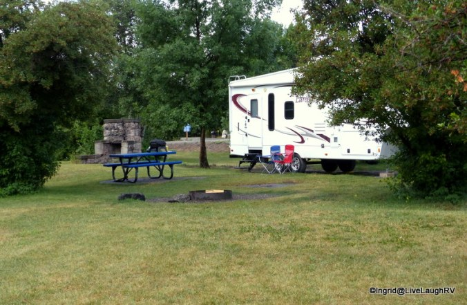 Our relaxing campsite at Beaver Dick Park