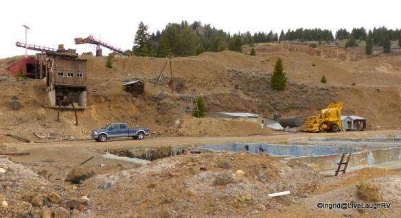 Open Pit Mine Site - Produced gold, silver, copper, lead and zinc from 1902 to 1975