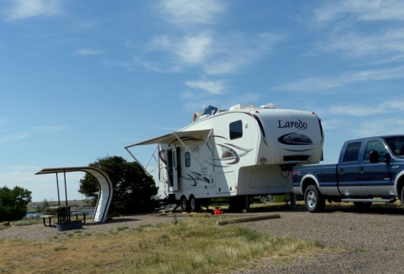 While camped at Lake Pueblo State Park, the A/C needed some maintenance.