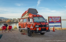These folks are from England and have traveled the world in this VW Bus