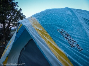 Tenting in snow