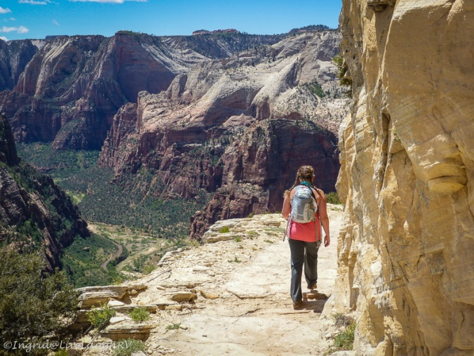 hiking Zion