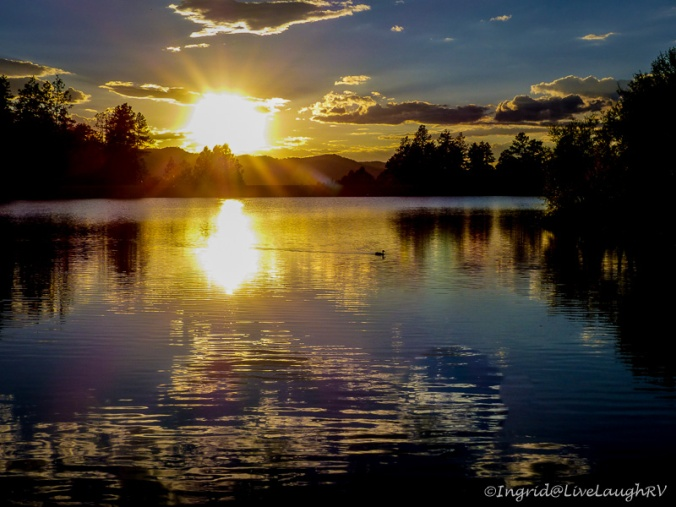sunset at Goldwater Lake