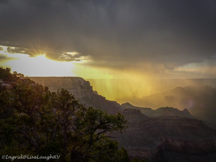 stormy sunset at the Grand Canyon