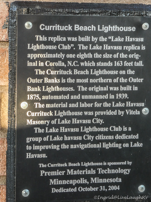 Currituck Beach Lighthouse Lake Havasu City Arizona