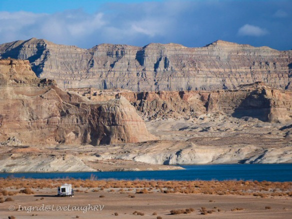 camping at Lake Powell, Utah