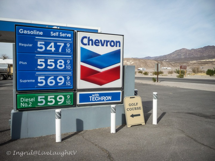 gas prices in Death Valley