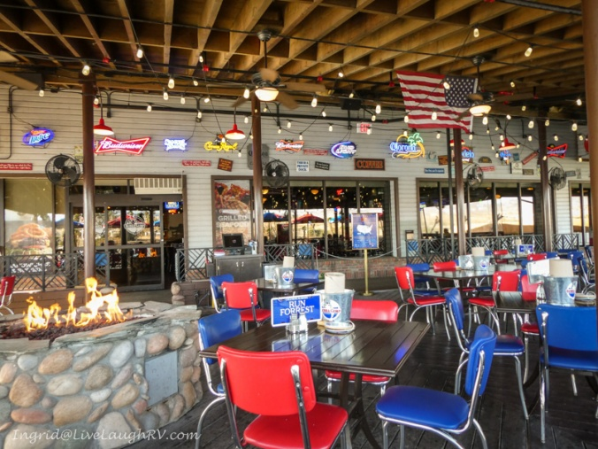 Bubba Gump dining in Laughlin, NV