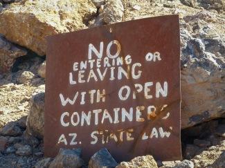 Desert Bar Parker Arizona